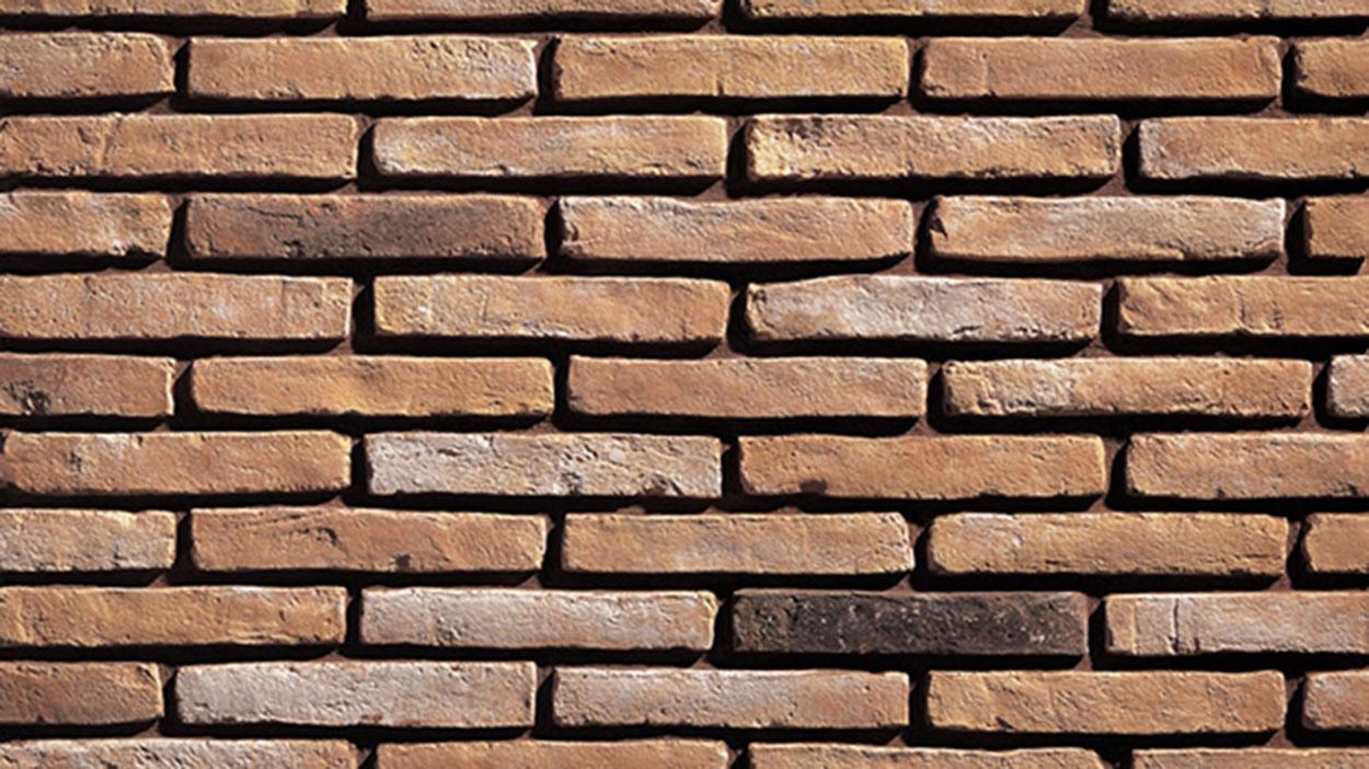 Colonial Brick Amber Flat 40mm