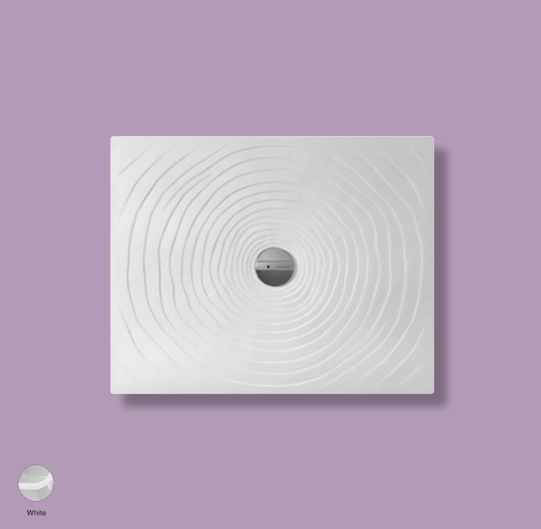 Water Drop Laid on or built-in in the floor shower tray 80x100 cm White