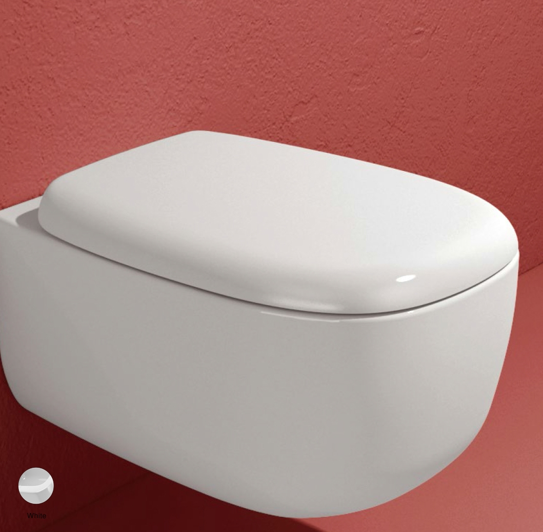 Bonola Soft-closing thermosetting wrapping seat and cover White