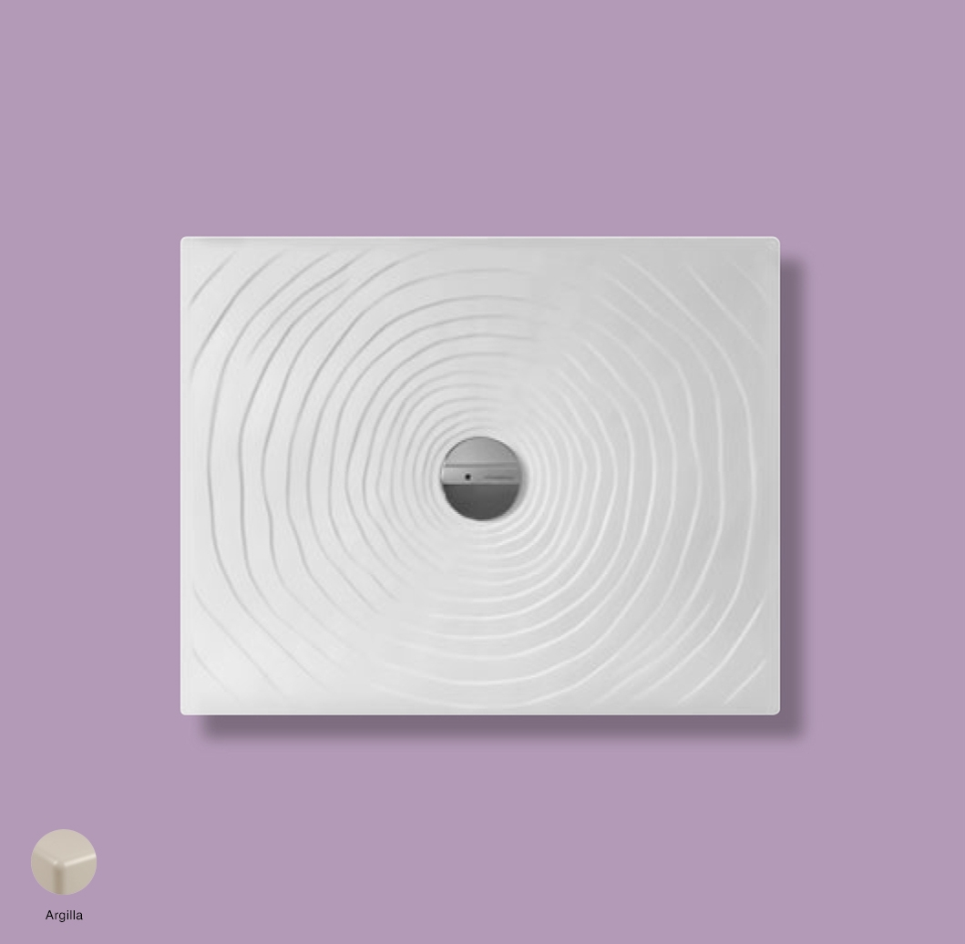 Water Drop Laid on or built-in in the floor shower tray 90x72 cm Argilla