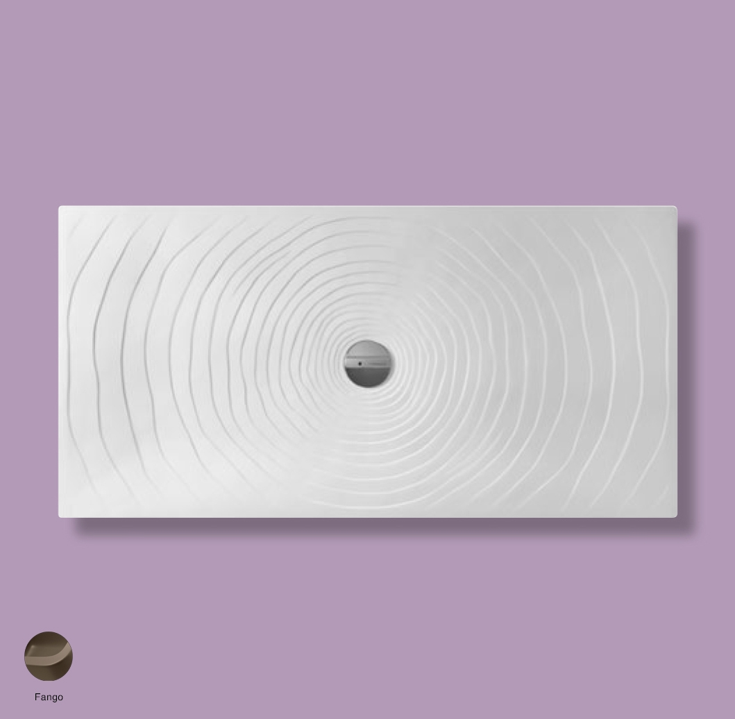 Water Drop Laid on or built-in in the floor shower tray 160x80 cm Fango