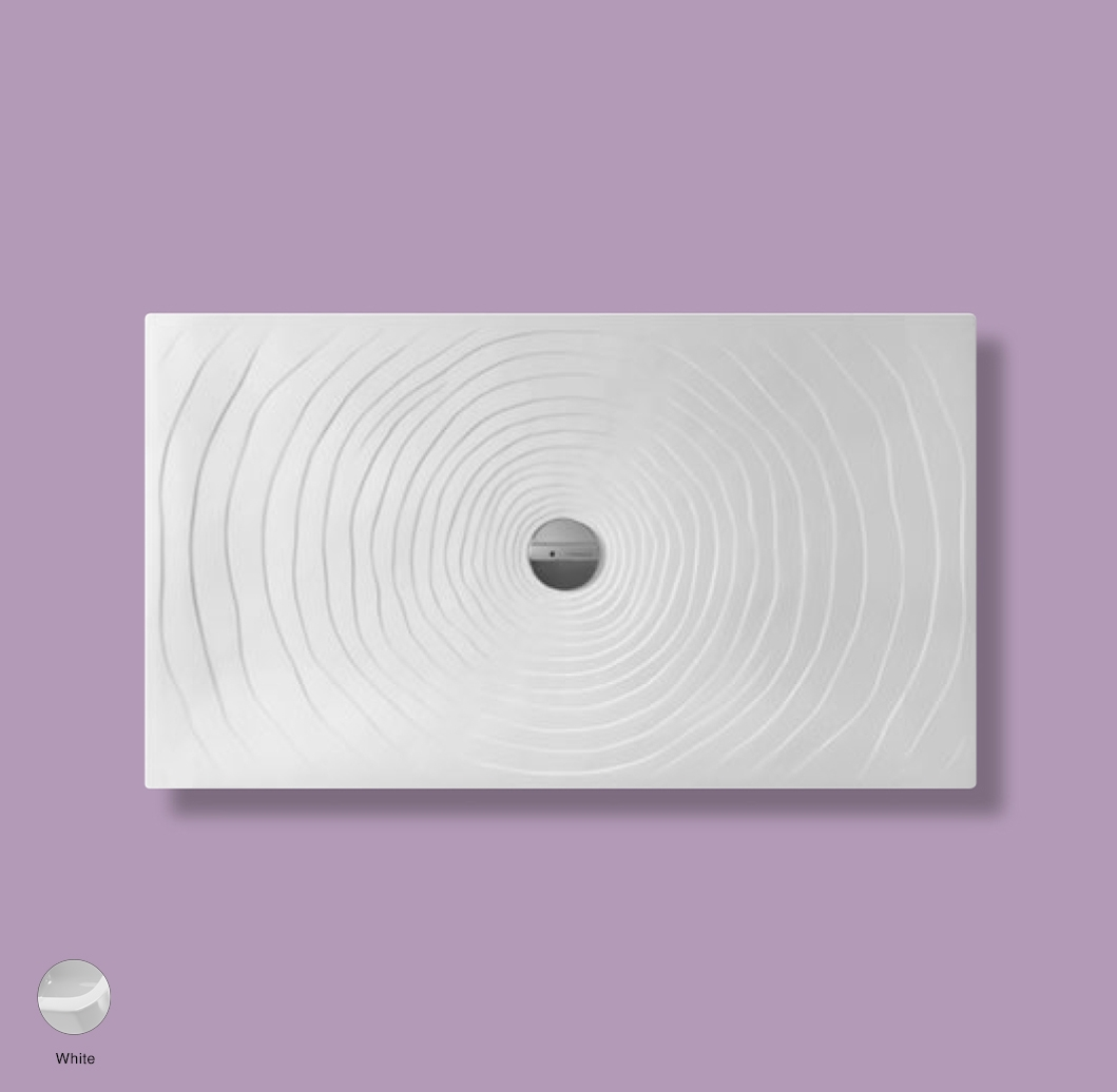 Water Drop Laid on or built-in in the floor shower tray 140x80 cm White
