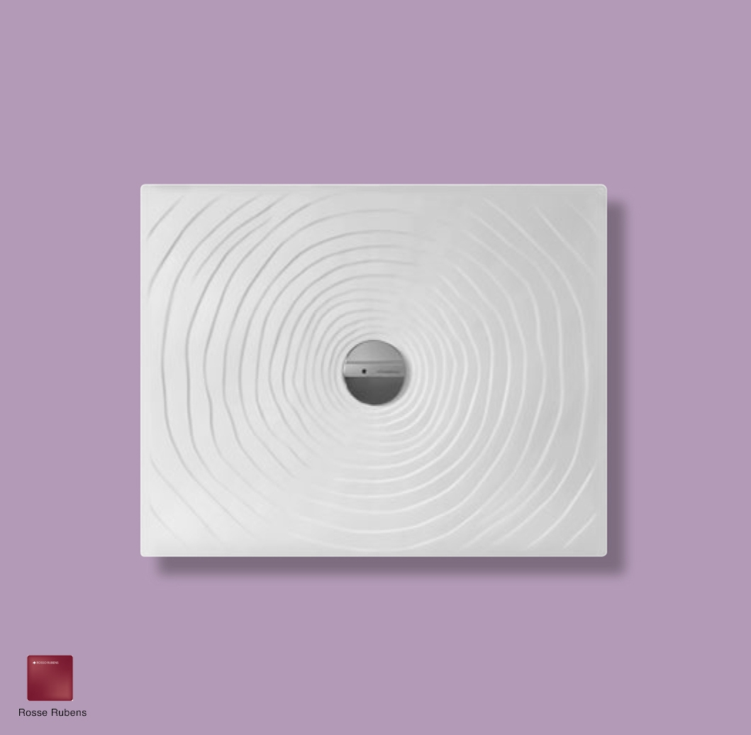 Water Drop Laid on or built-in in the floor shower tray 90x72 cm Rosso Rubens