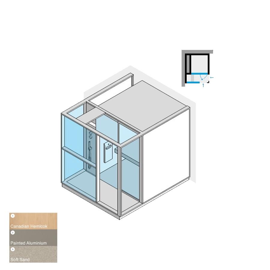 Logica H Left-Hand Corner LH Soft Sand 214x250x226h 4.5kW