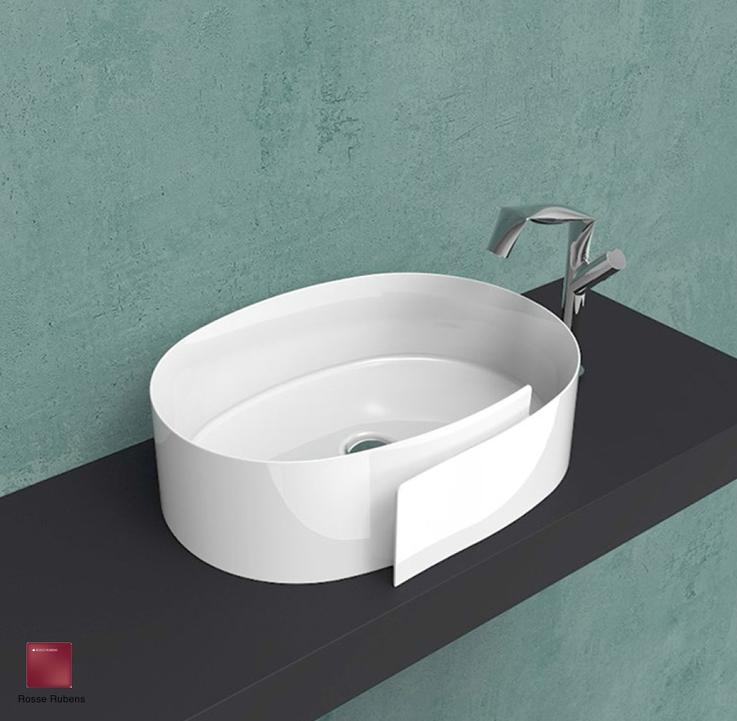 Roll Countertop basin 56 cm without overflow, without tap ledge Rosso Rubens