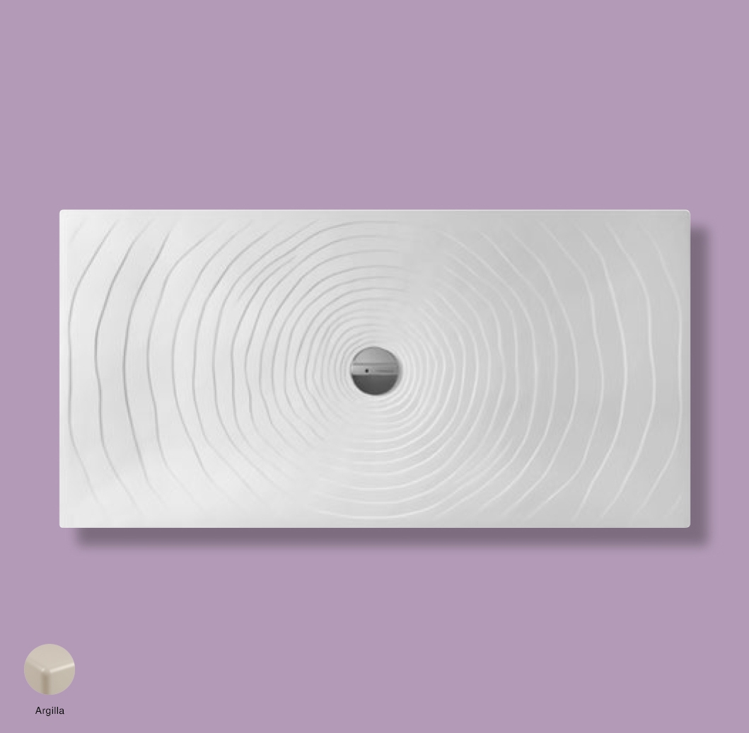 Water Drop Laid on or built-in in the floor shower tray 160x80 cm Argilla