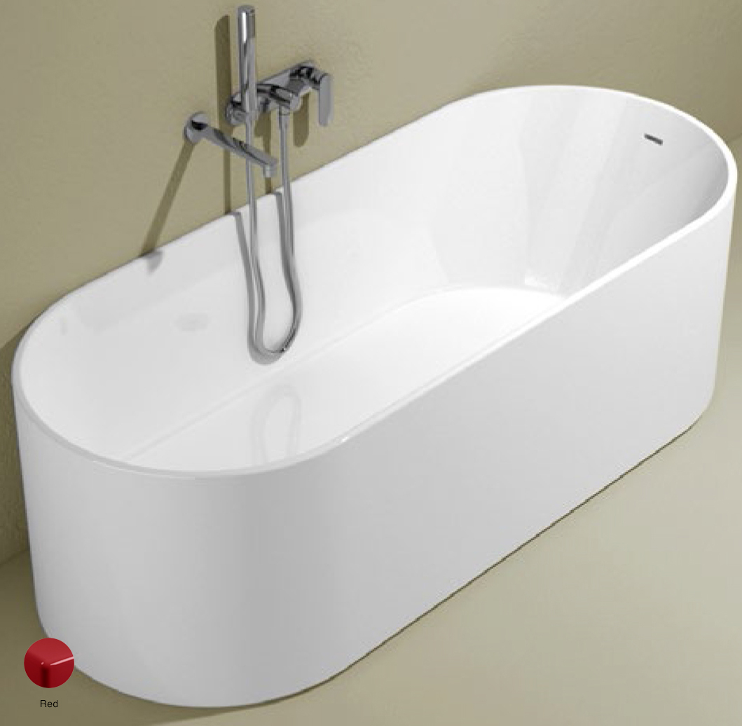 Oval Bath-tub 170 cm in Pietraluce Red