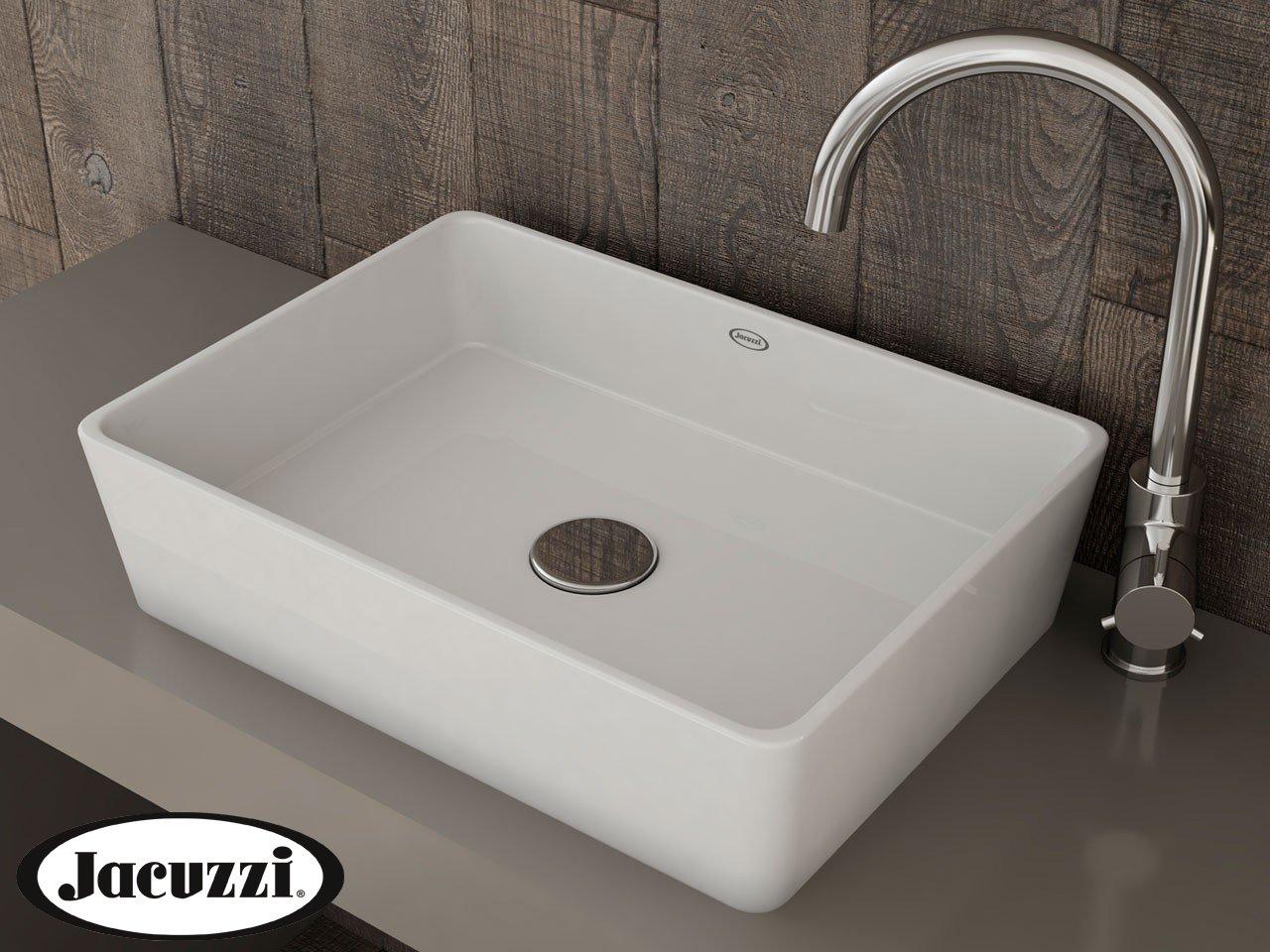 Glow Rectangular Countertop basin White 50 x 36 x 13