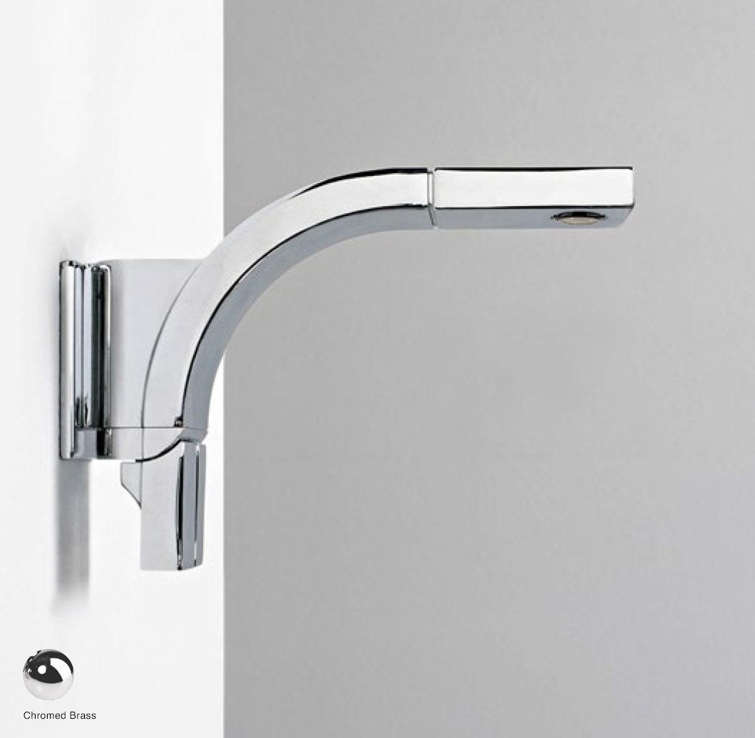 Si Down Wall-mounted dual controls basin mixer, stop and go drain included Chrome