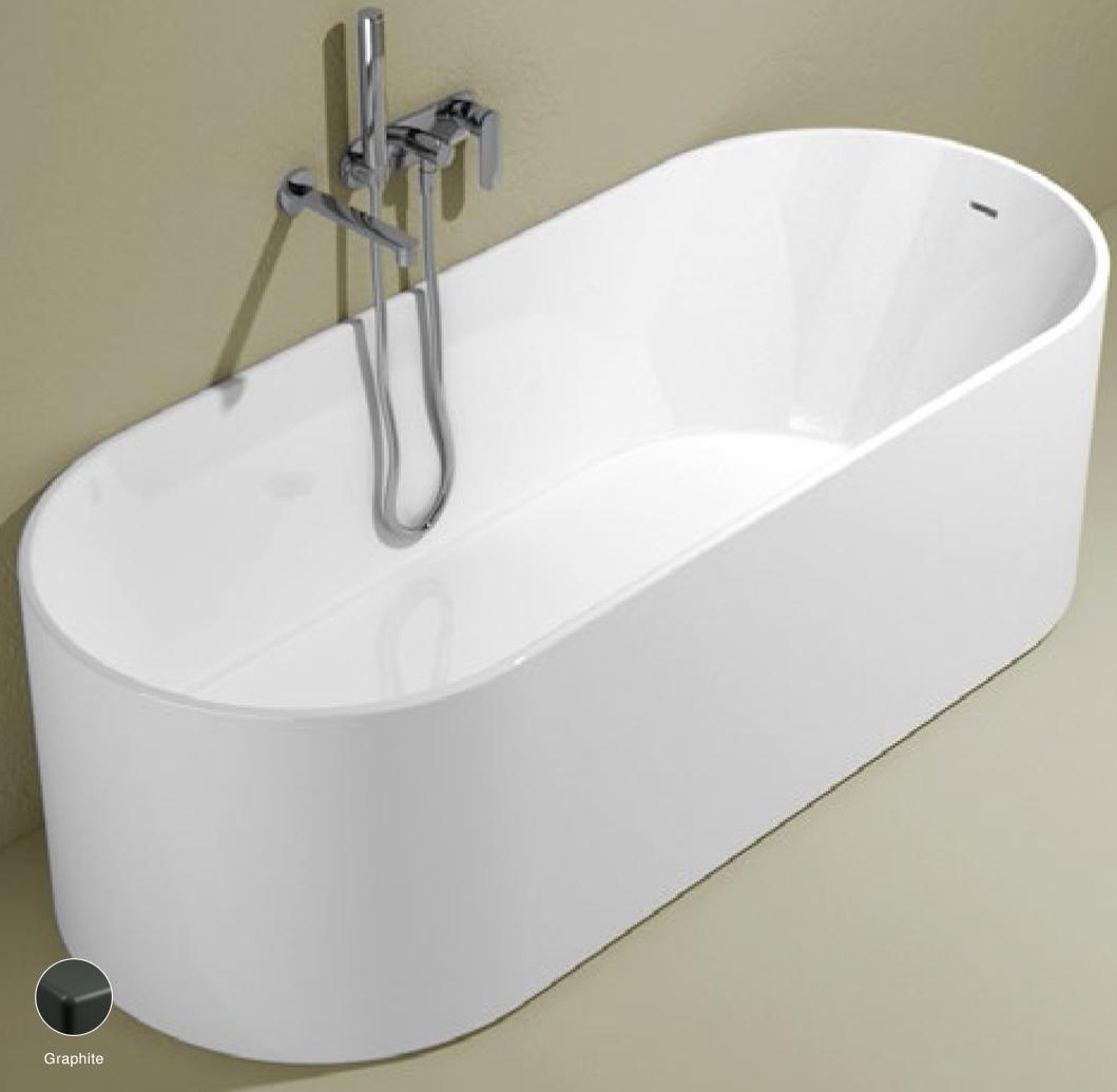 Oval Bath-tub 170 cm in Pietraluce Graphite