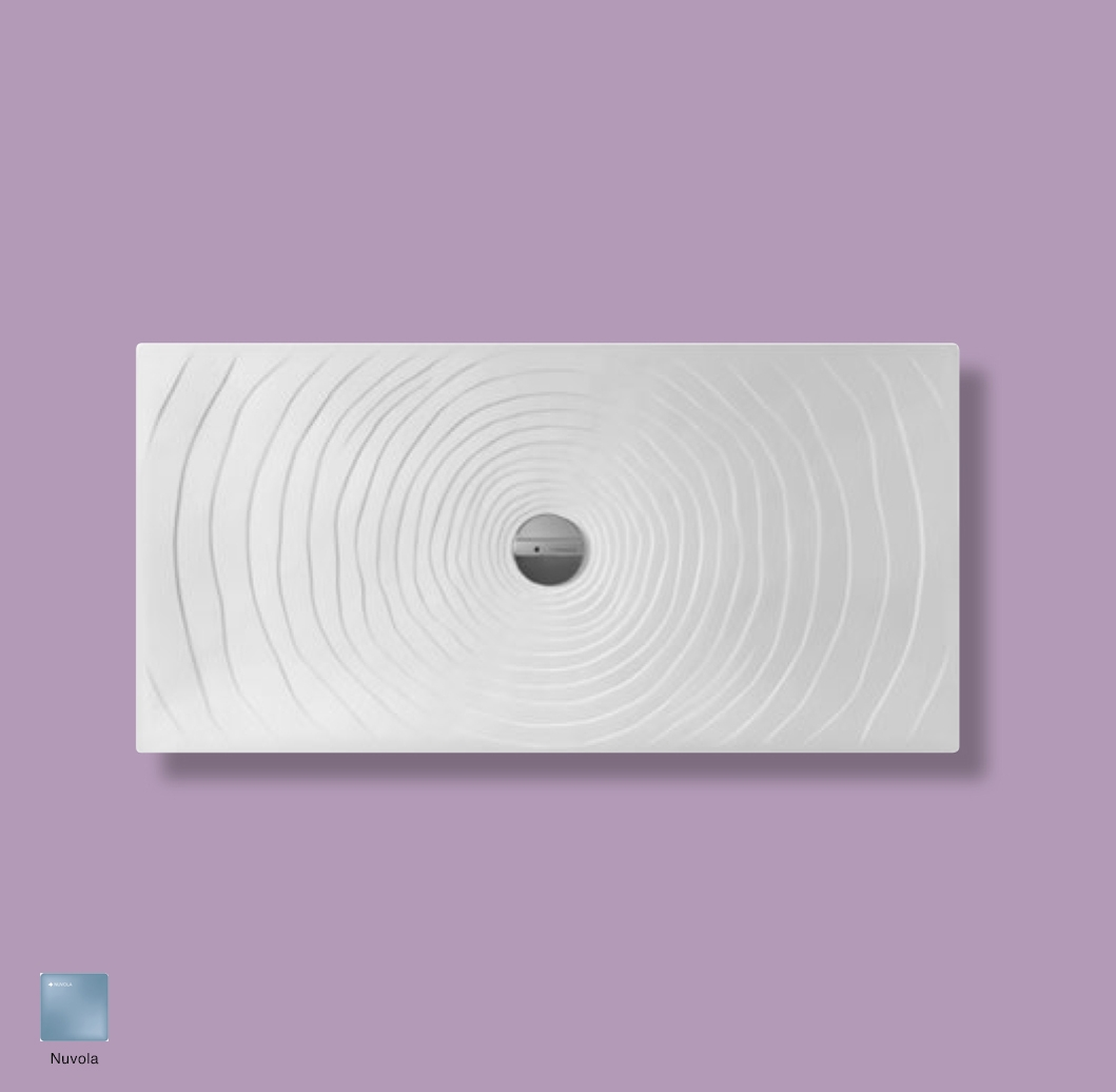 Water Drop Laid on or built-in in the floor shower tray 140x70 cm Nuvola