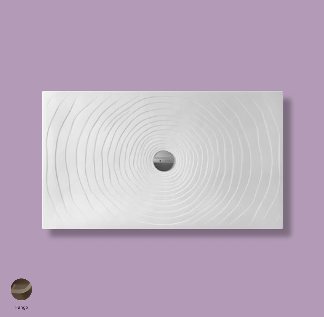 Water Drop Laid on or built-in in the floor shower tray 140x80 cm Fango