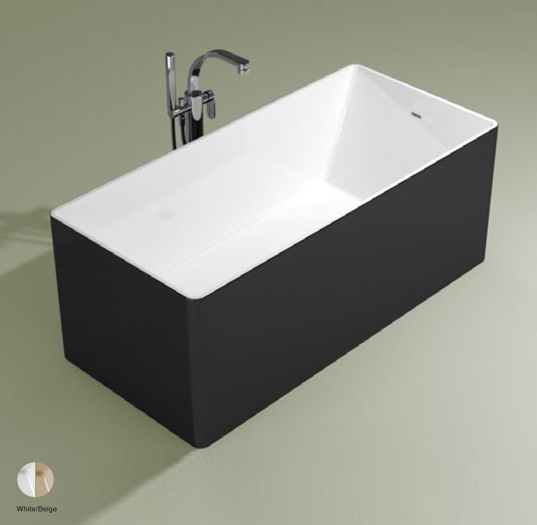 Wash Bath-tub 150 cm in Pietraluce BICOLOR White/Beige
