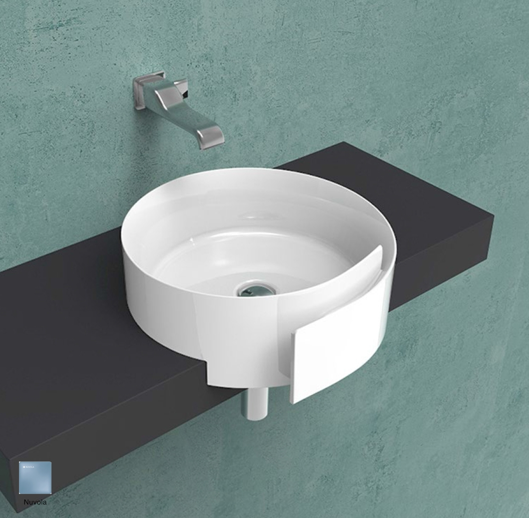 Roll Semi-inset basin 44 cm without overflow, without tap ledge Nuvola