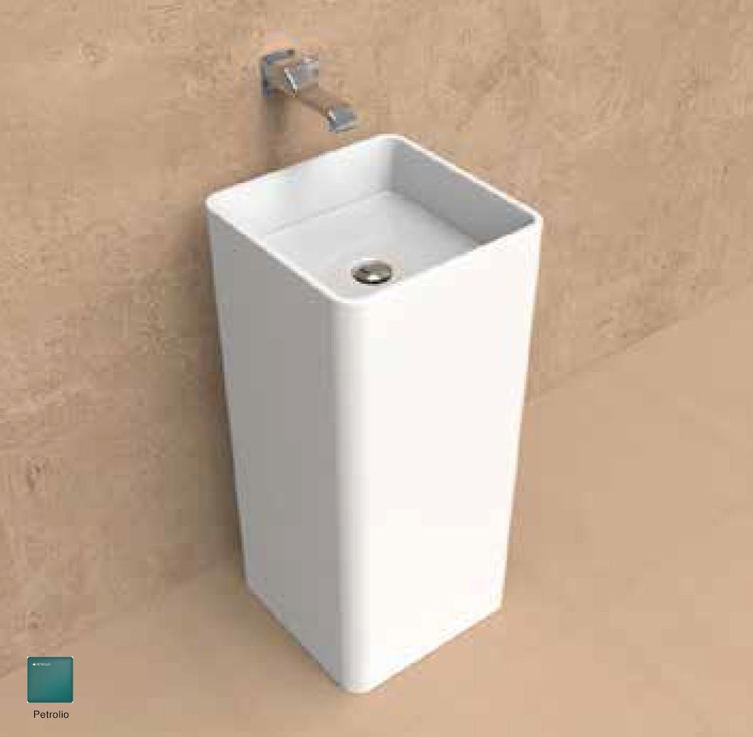 Monowash Wall column-basin 40 cm Rosso Petrolio