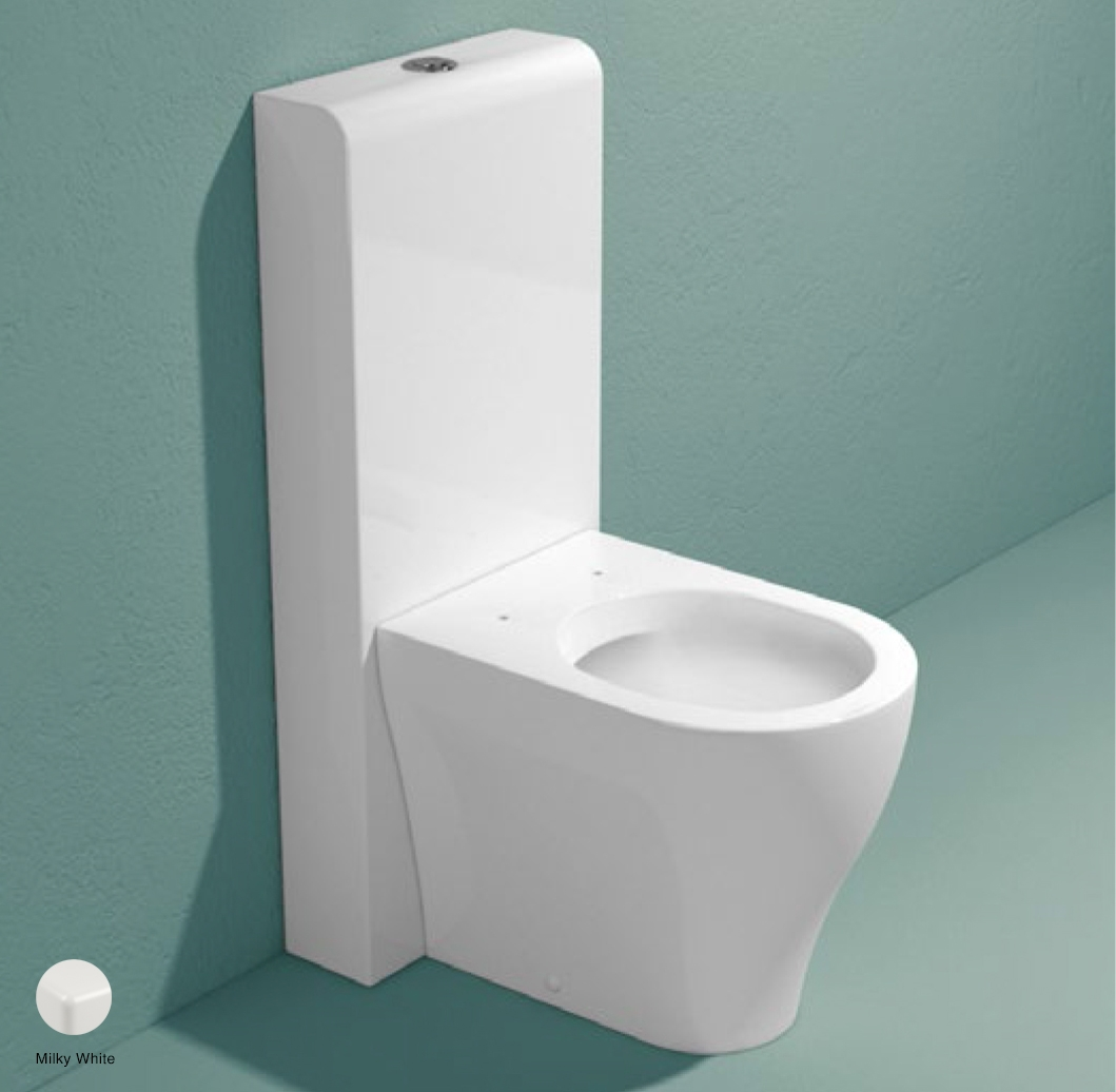 App Monoblock cistern with wall trap Wilky White