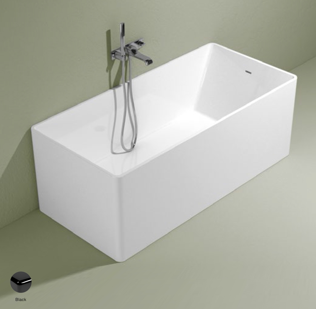Wash Bath-tub 150 cm in Pietraluce Black