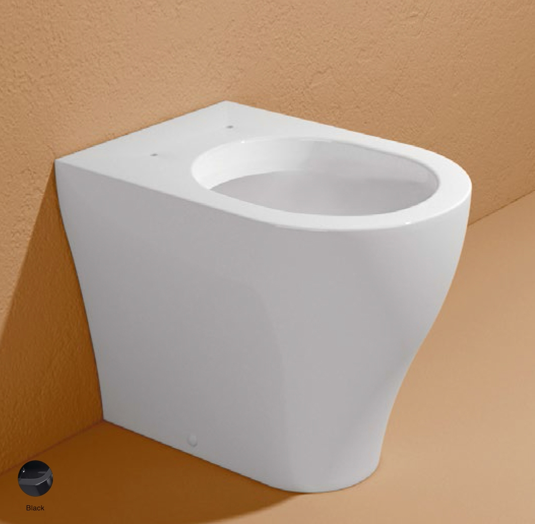 App Back to wall WC with goclean system S/P trap Black