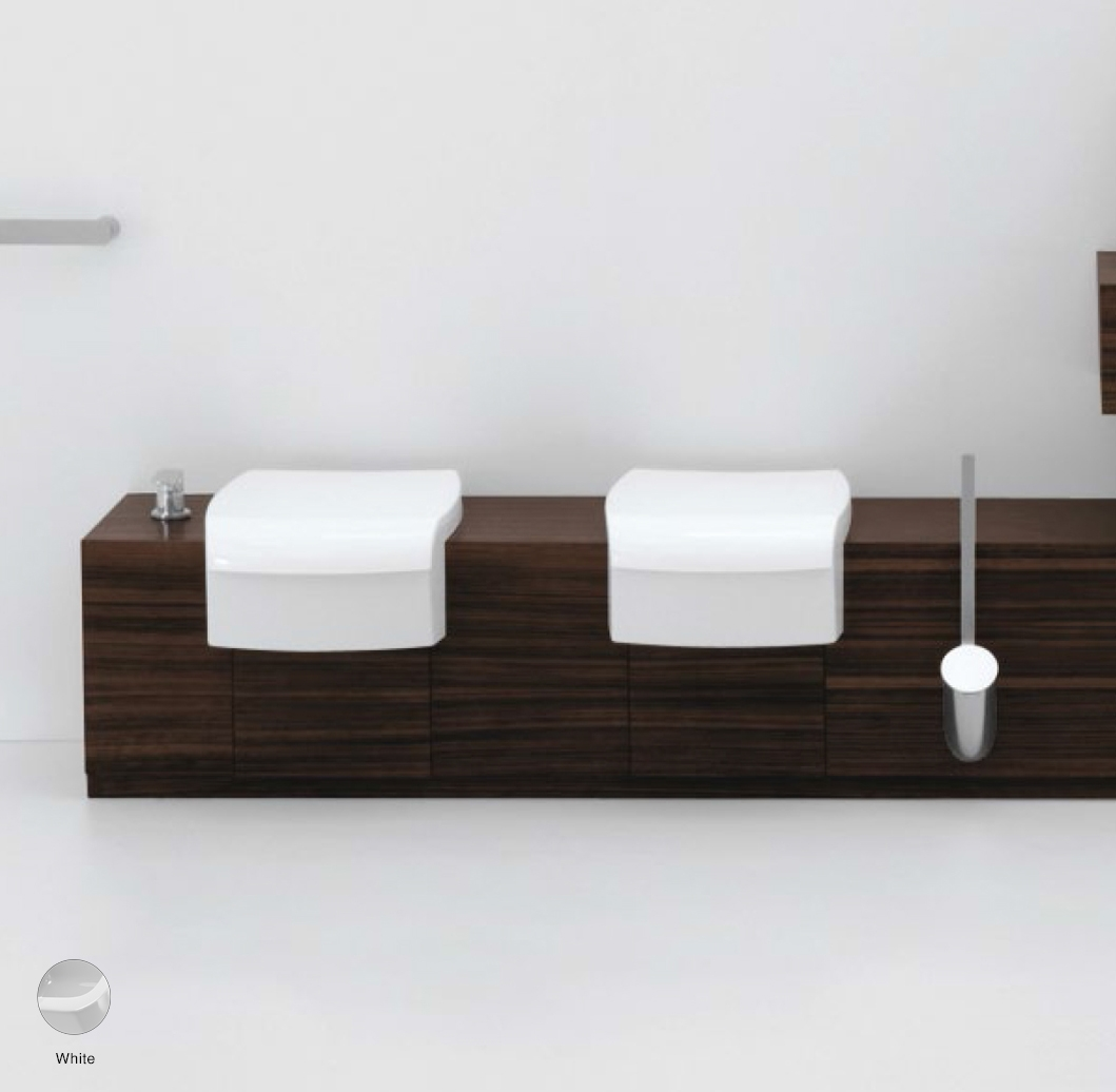Una Case from 135 to 200 x 45 x h 40 cm suitable for semi-inset wc and bidet White