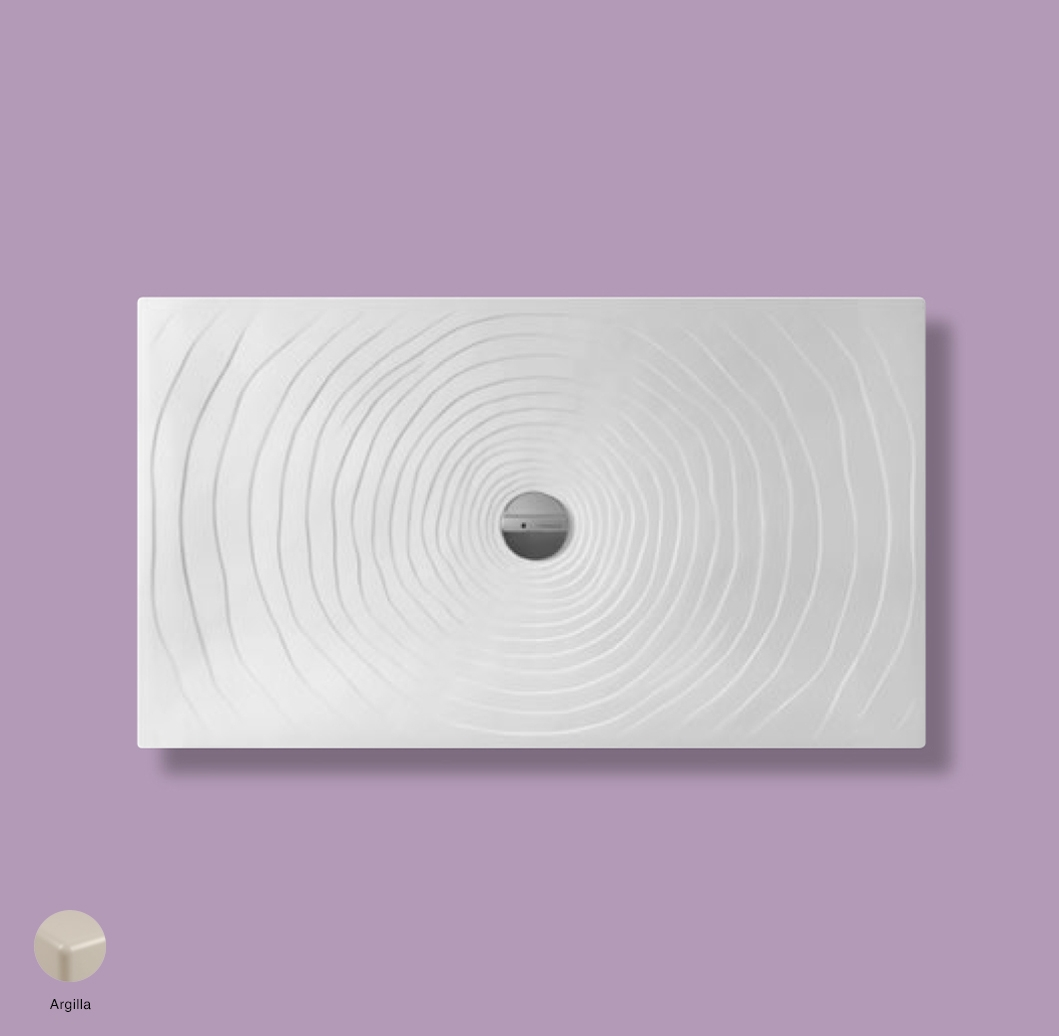 Water Drop Laid on or built-in in the floor shower tray 140x80 cm Argilla
