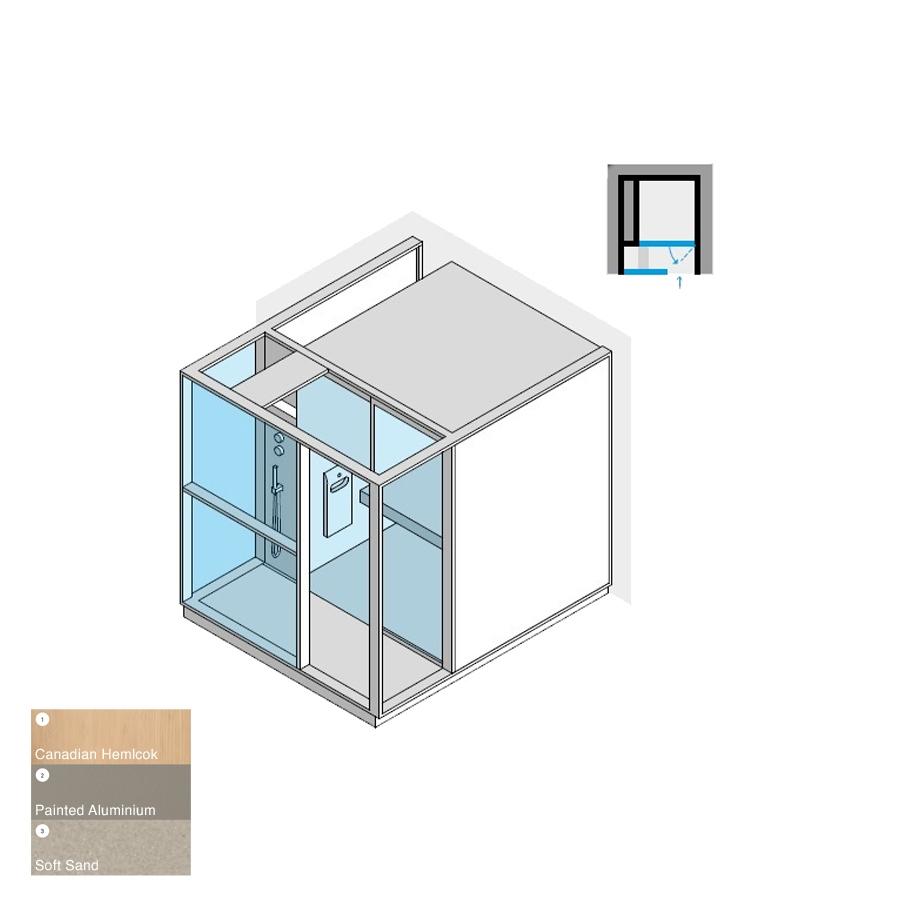 Logica H Niche LH Soft Sand 214x250x226h 4.5kW