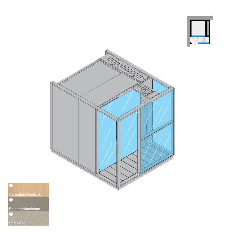 Logica S Left-Hand Corner RH Soft Sand 214x250x226h 6kW