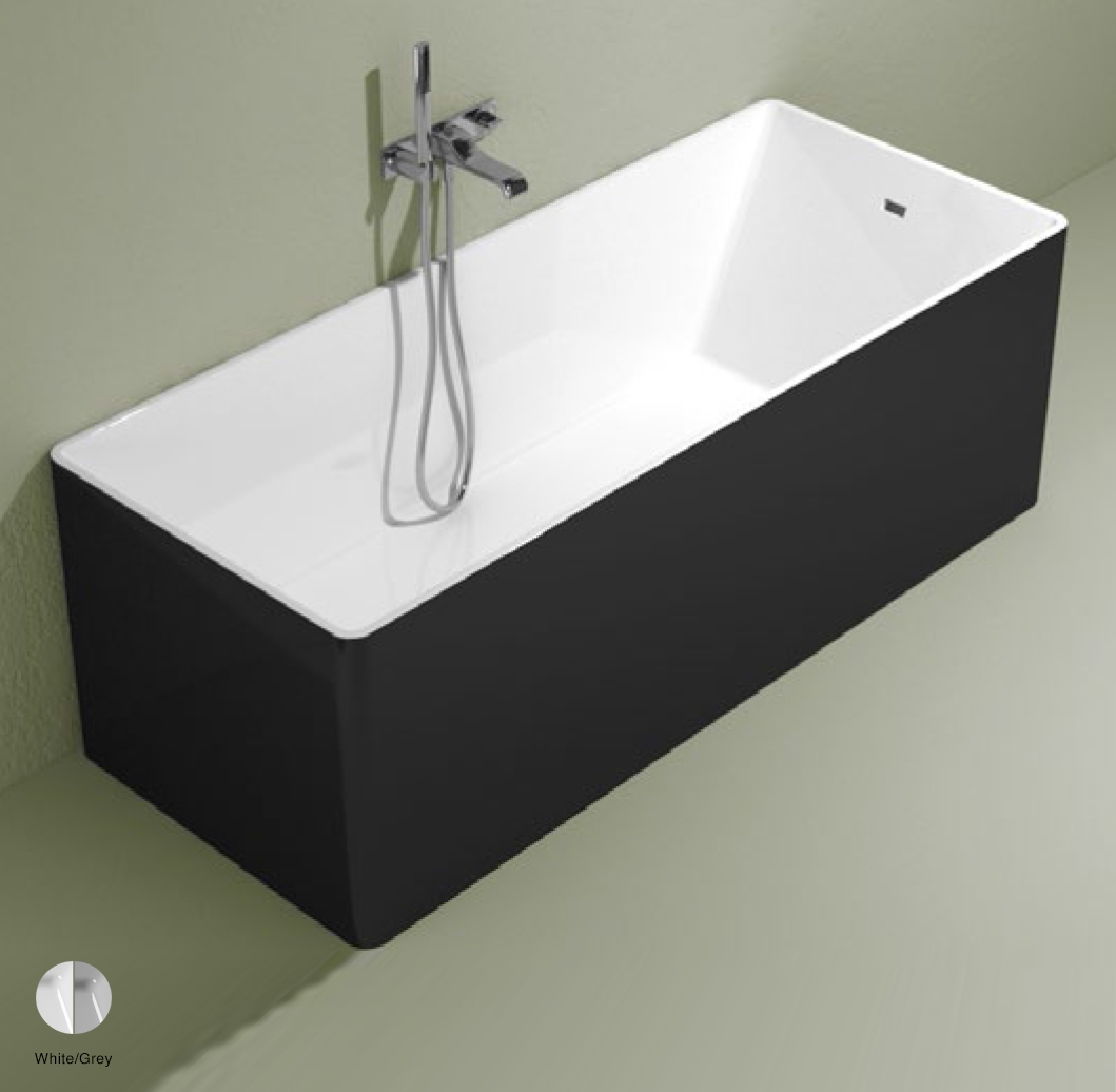 Wash Bath-tub 170 cm in Pietraluce BICOLOR White/Grey