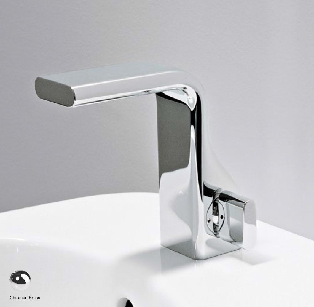 Noke Single lever basin mixer, drain included Glossy Chrome