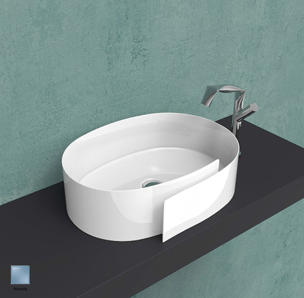 Roll Countertop basin 56 cm without overflow, without tap ledge Nuvola