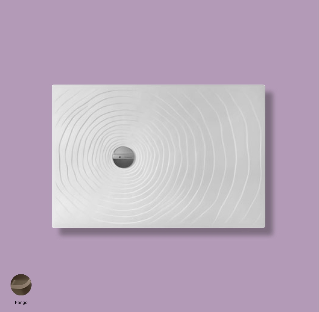 Water Drop Laid on or built-in reversible shower tray 120x80 cm Fango
