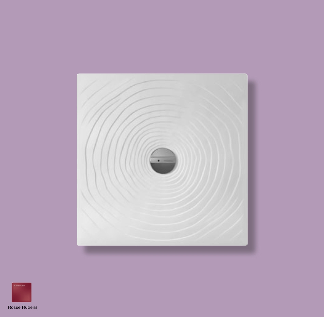 Water Drop Laid on or built-in in the floor shower tray 80x80 cm Rosso Rubens