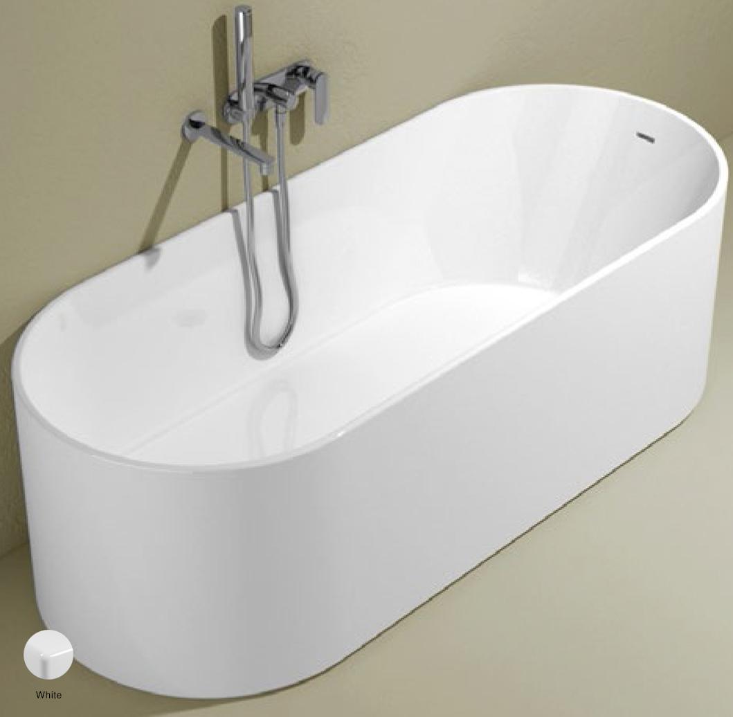 Oval Bath-tub 170 cm in Pietraluce White