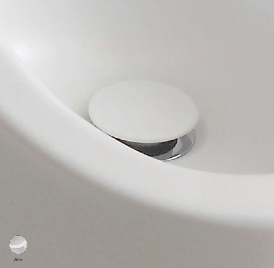 Stop and Go drain suitable for basin and bidet White