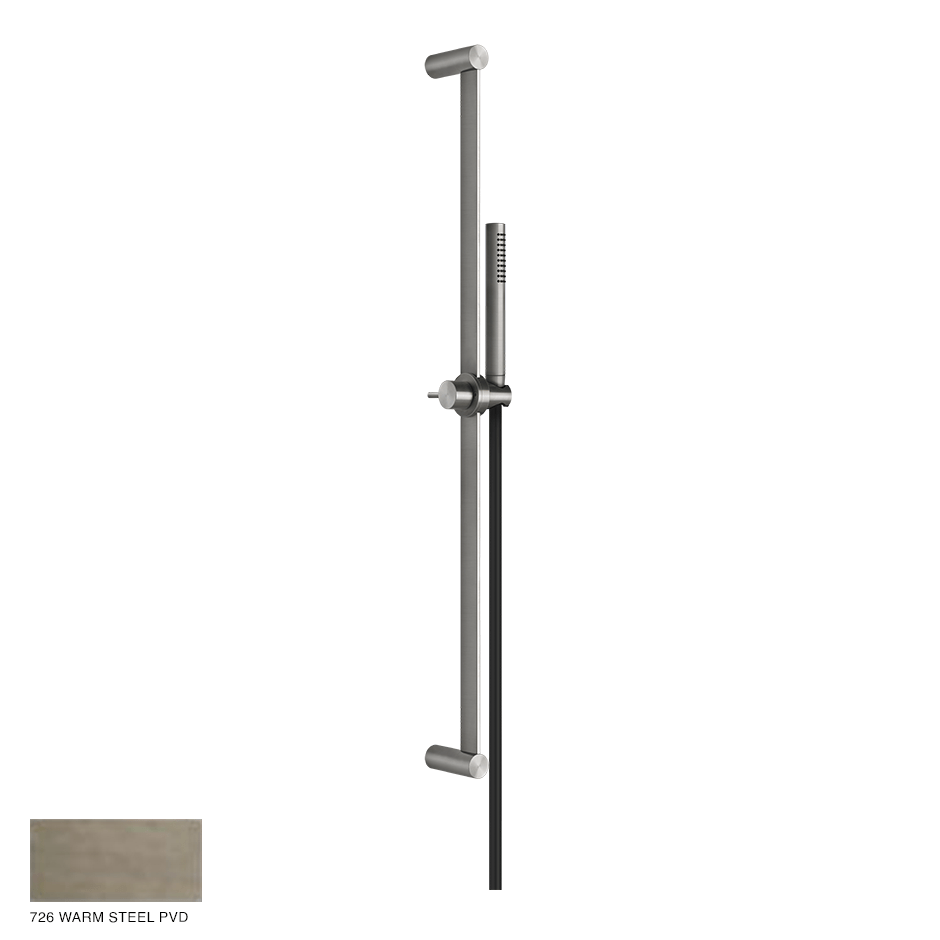 Gessi 316 Sliding rail with handshower and hose 726 Warm Bronze Brushed PVD