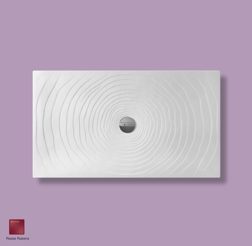 Water Drop Laid on or built-in in the floor shower tray 140x80 cm Rosso Rubens