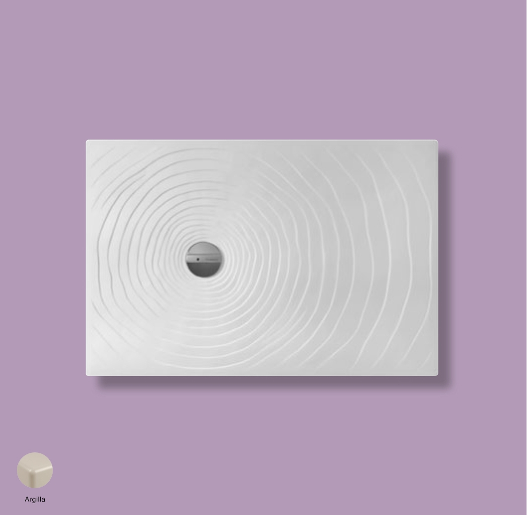 Water Drop Laid on or built-in reversible shower tray 120x80 cm Argilla