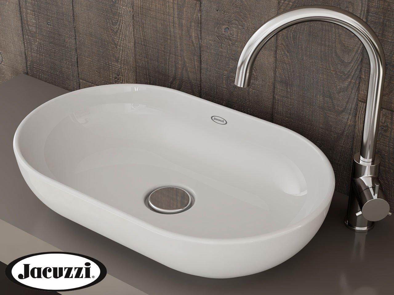 Glow Oval Countertop basin White 55 x 35 x 13