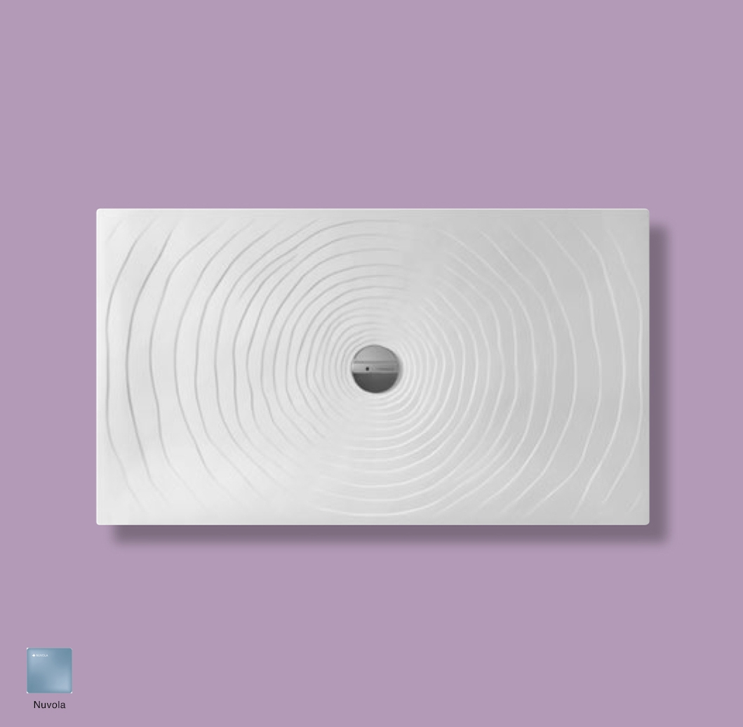 Water Drop Laid on or built-in in the floor shower tray 140x80 cm Nuvola