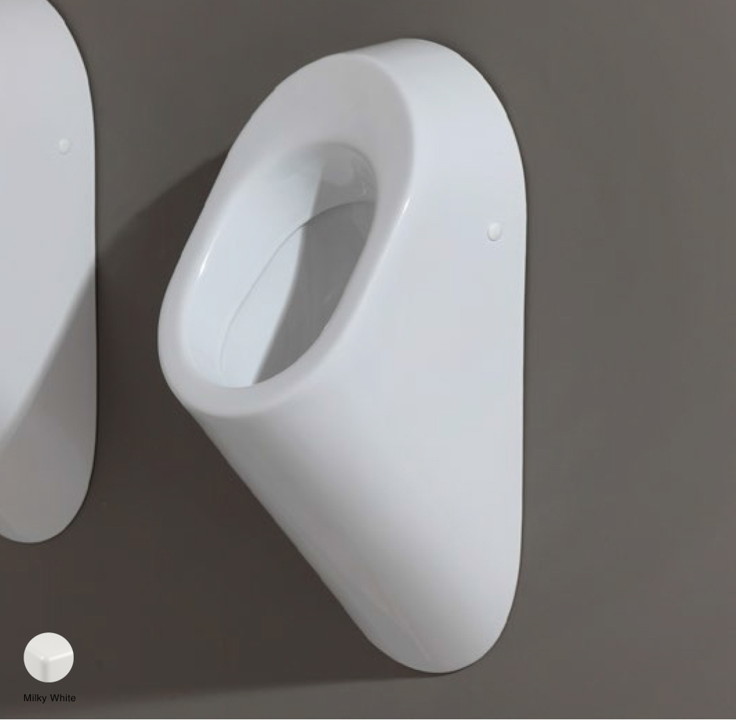 Key Urinal to wall Milky White