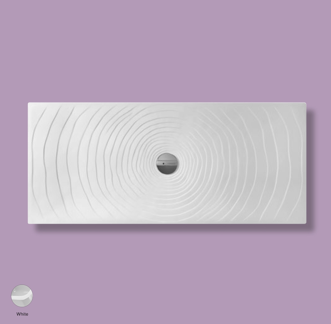 Water Drop Laid on or built-in in the floor shower tray 160x70 cm White