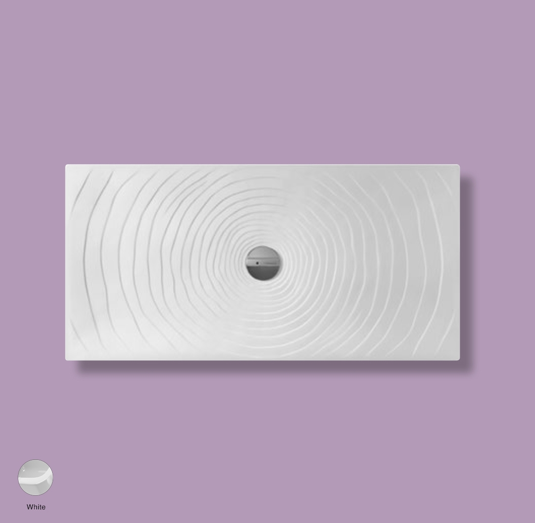 Water Drop Laid on or built-in in the floor shower tray 140x70 cm White