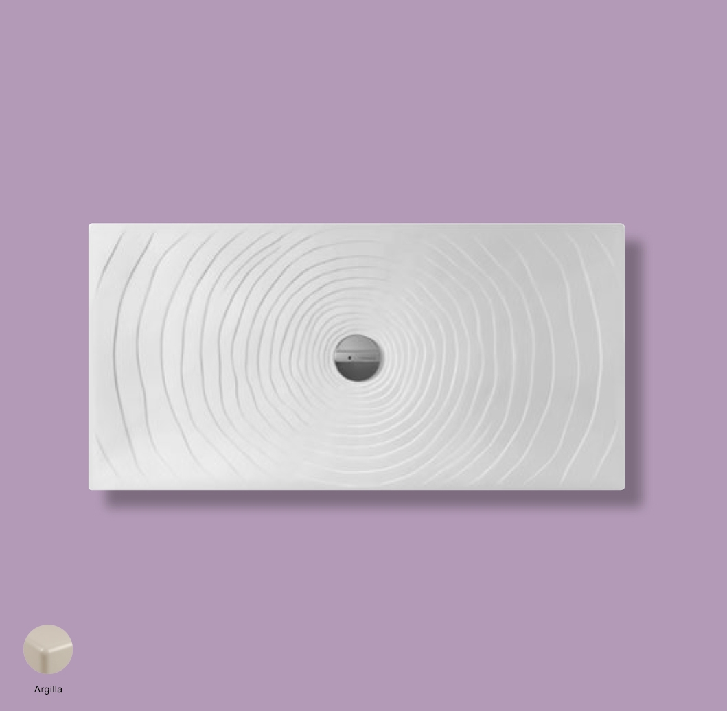 Water Drop Laid on or built-in in the floor shower tray 140x70 cm Argilla