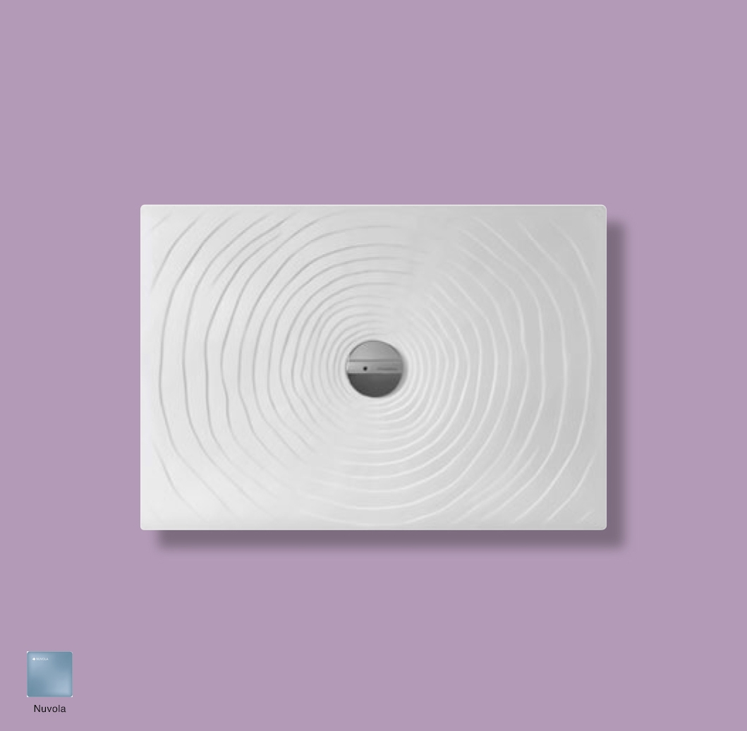 Water Drop Laid on or built-in in the floor shower tray 100x70 cm Nuvola