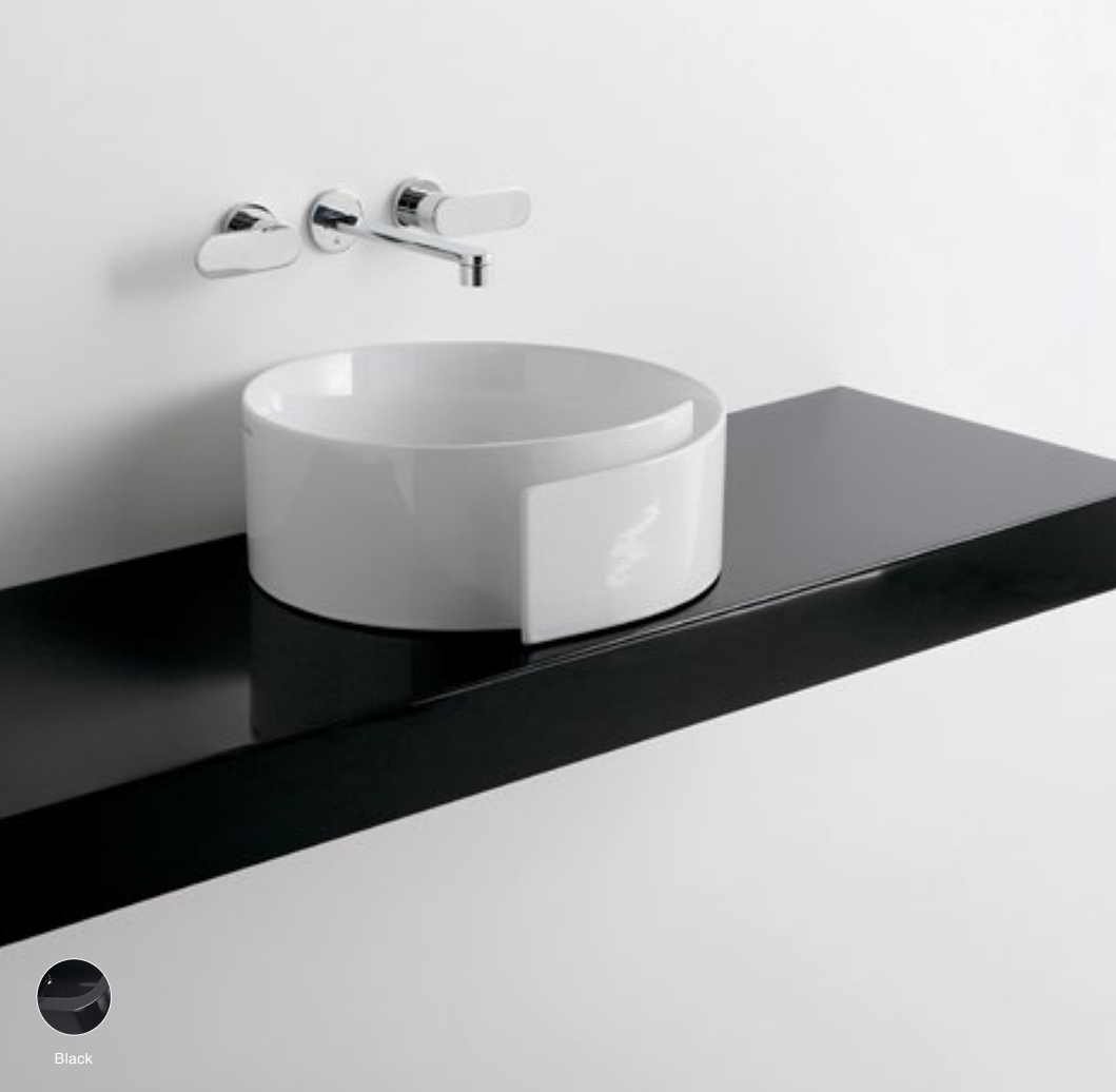 Roll Shelf from 80 to 250 x 46 x h 10 cm suitable for Roll 44 basin Black