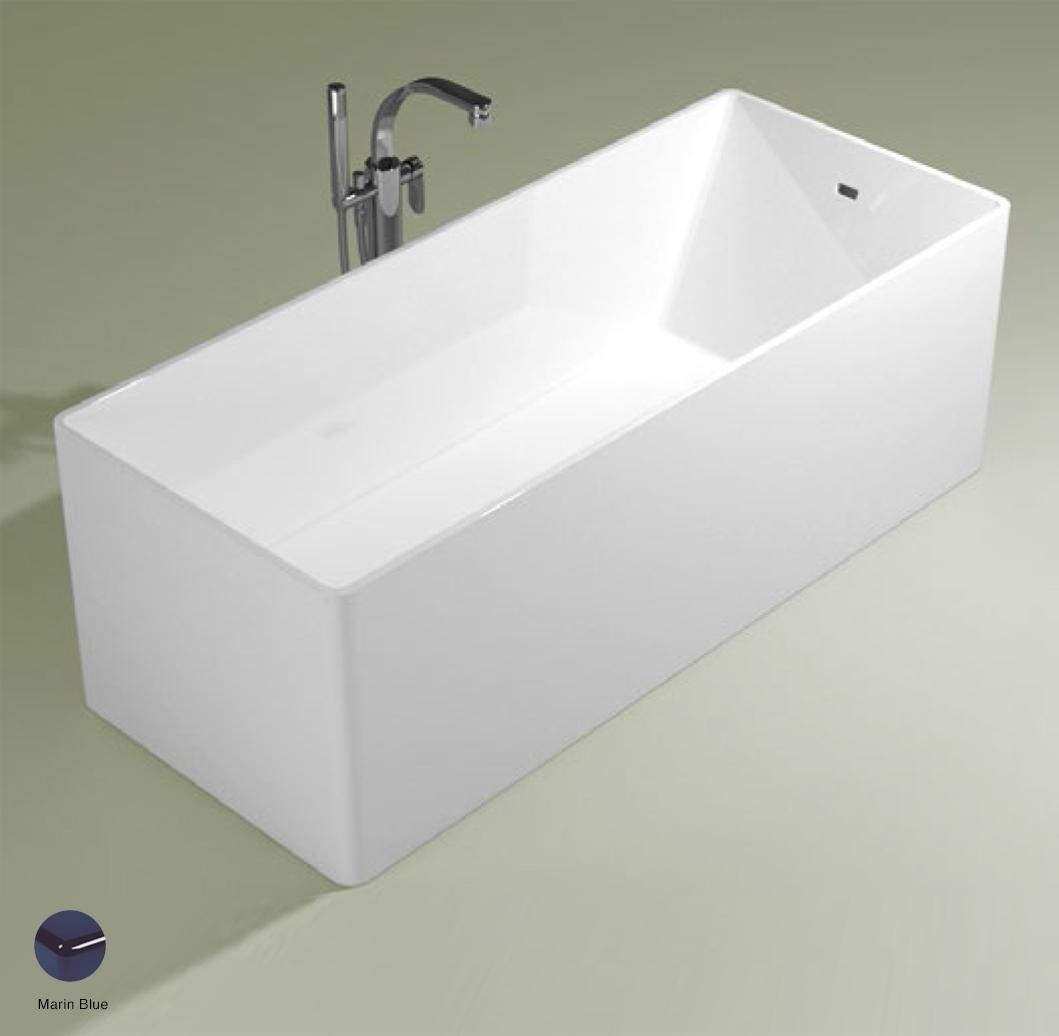 Wash Bath-tub 170 cm in Pietraluce Marine Blue