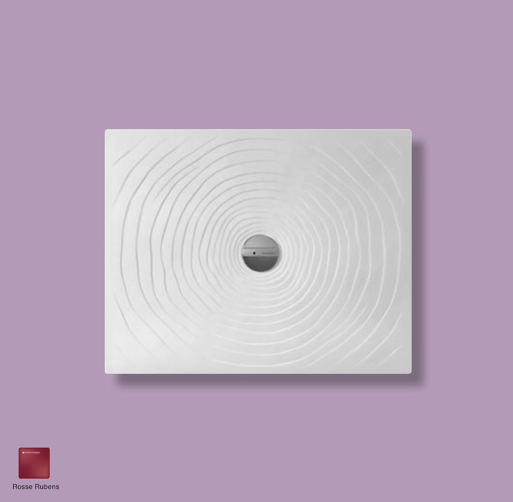 Water Drop Laid on or built-in in the floor shower tray 80x100 cm Rosso Rubens