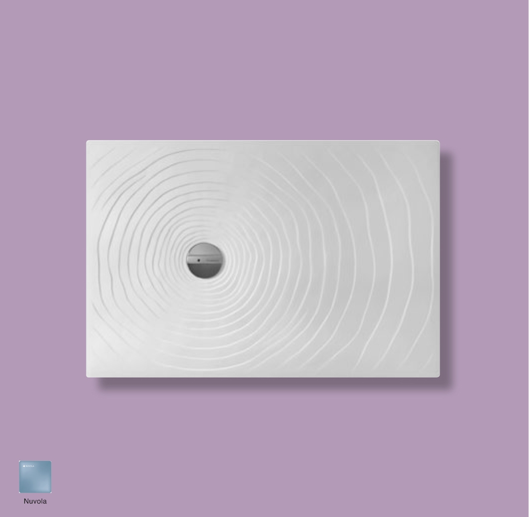Water Drop Laid on or built-in reversible shower tray 120x80 cm Nuvola