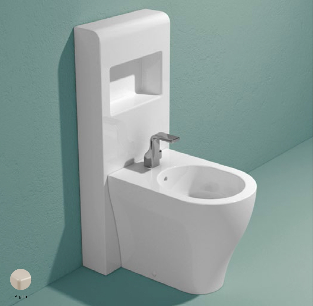 App Bidet panel with shelf Argilla