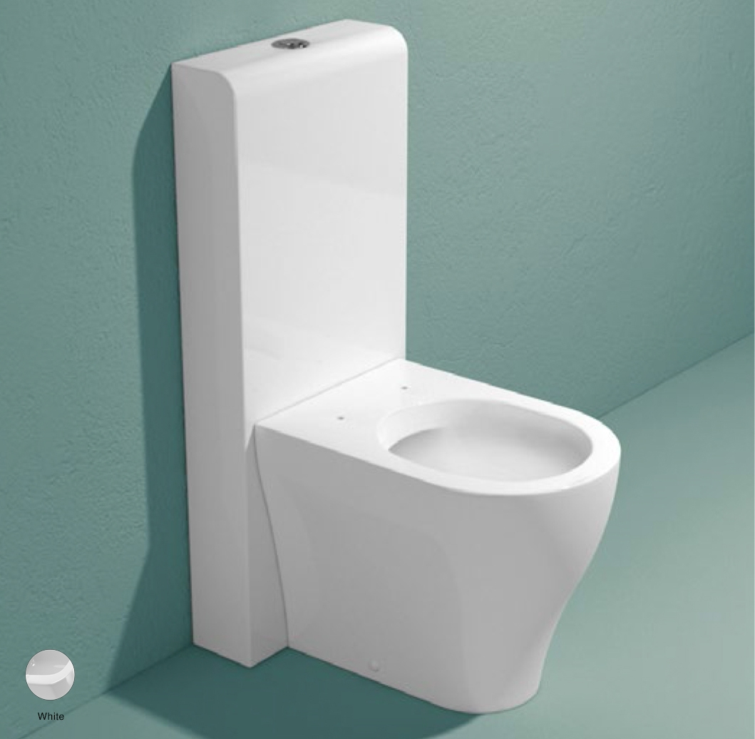 App Monoblock cistern with wall trap White