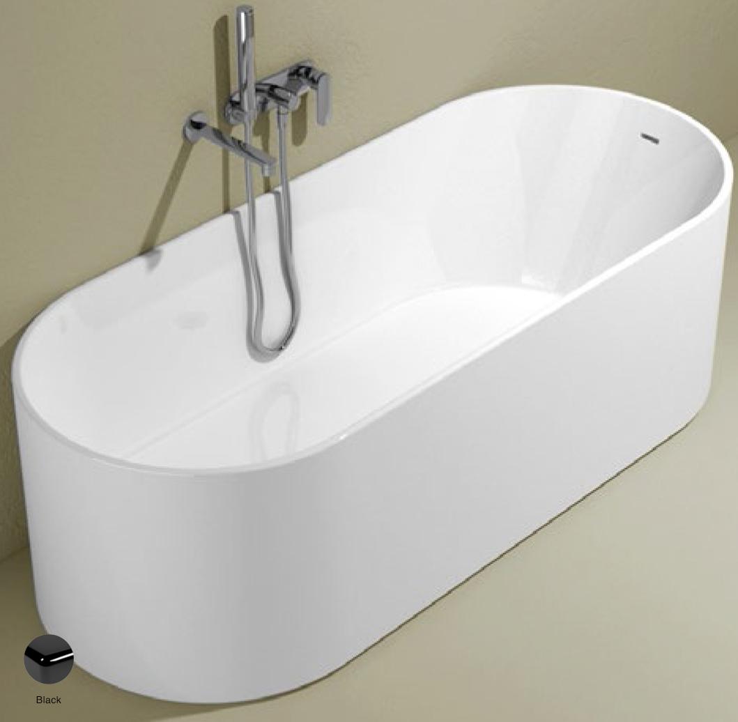 Oval Bath-tub 170 cm in Pietraluce Black